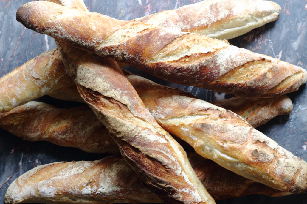 Artisan bread french baguettes
