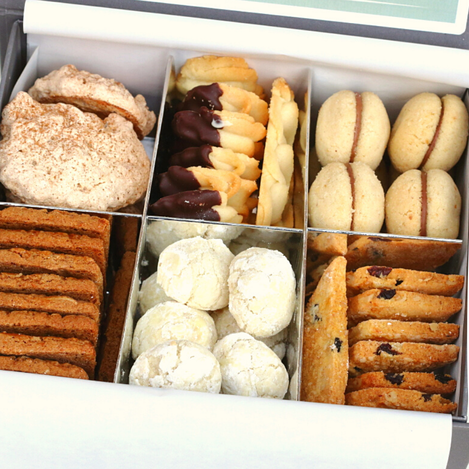Box of biscuits by lovingly baked by anthea