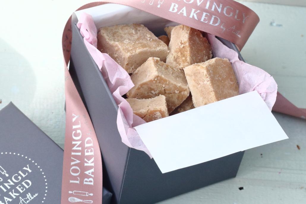 Gift box of scottish tablet