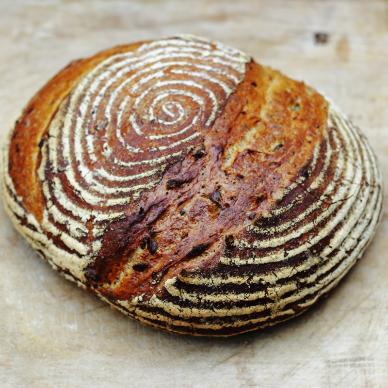 Loaf of wholemeal bread - our products - lovingly baked by anthea
