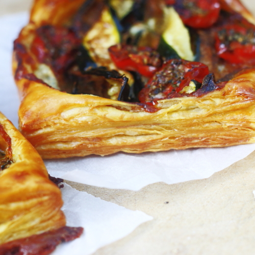 Courgette tomato tart - lovingly baked by anthea